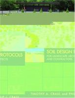 Cover image for Soil design protocols for landscape architects and contractors