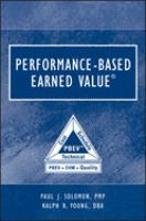 Cover image for Performance-based earned value