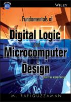 Cover image for Fundamentals of digital logic and microcomputer design