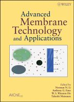 Cover image for Advanced membrane technology and applications