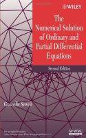 Cover image for The numerical solution of ordinary and partial differential equations