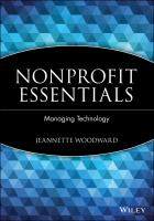 Cover image for Nonprofit essentials :  managing technology