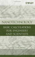 Cover image for Nanotechnology : basic calculations for engineers and scientists