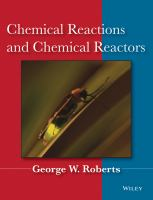 Cover image for Chemical reactions and chemical reactors