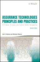 Cover image for Assurance technologies : principles and practices: a product, process, and system safety perpective