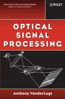 Cover image for Optical signal processing