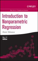 Cover image for Introduction to nonparametric regression