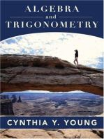 Cover image for Algebra and trigonometry