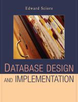 Cover image for Database design and implementation