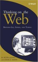 Cover image for Thinking on the Web : Berners-Lee, Godel, and Turing