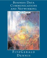 Cover image for Business data communications and networking
