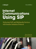Cover image for Internet communications using SIP : delivering VoIP and multimedia services with Session Initiation Protocol