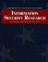 Cover image for Information security research : new methods for protecting against cyber threats