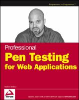 Cover image for Professional pen testing for Web applications
