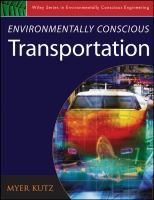 Cover image for Environmentally conscious transportation