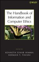 Cover image for The handbook of information and computer ethics