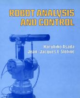 Cover image for Robot analysis and control