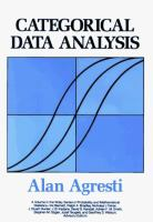 Cover image for Categorical data analysis