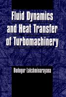 Cover image for Fluid dynamics and heat transfer of turbomachinery