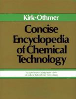 Cover image for Concise encyclopedia of chemical technology