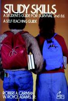 Cover image for Study skills : a student's guide for survival
