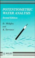 Cover image for Potentiometric water analysis