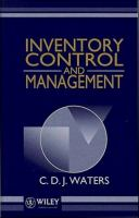 Cover image for Inventory control and management