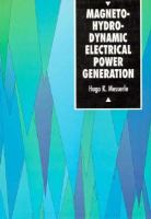 Cover image for Magnetohydrodynamic electrical power generation
