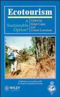 Cover image for Ecotourism : a sustainable option?