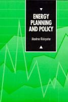 Cover image for Energy planning and policy