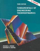 Cover image for Fundamentals of engineering thermodynamics : SI version