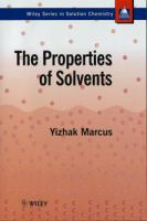Cover image for The properties of solvents