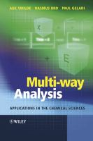 Cover image for Multi-way analysis with applications in the chemical sciences