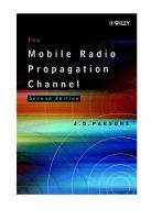 Cover image for The mobile radio propagation channel