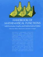 Cover image for Handbook of mathematical functions : with formulas, graphs and mathematical tables