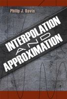 Cover image for Interpolation  and approximation