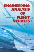 Cover image for Engineering analysis of flight vehicles