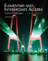 Cover image for Elementary and intermediate algebra : a combined course