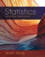 Cover image for Statistics : learning from data