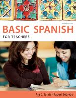 Cover image for Basic spanish for teachers