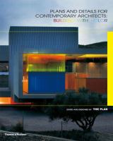 Cover image for Plans and details for contemporary architects : building with colour