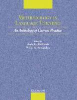 Cover image for Methodology in Language Teaching An Anthology of Current Practice