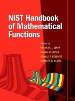 Cover image for NIST handbook of mathematical functions