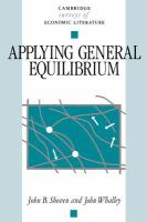 Cover image for Applying general equilibrium