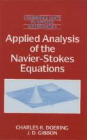 Cover image for Applied analysis of the Navier-Stokes equations