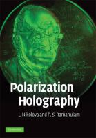 Cover image for Polarization holography