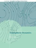 Cover image for Atmospheric Dynamics