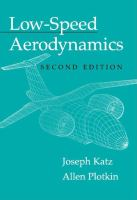 Cover image for Low speed aerodynamics