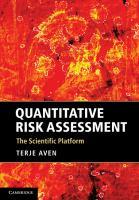 Cover image for Quantitative risk assessment : the scientific platform