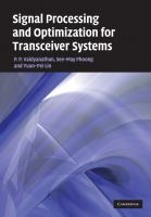 Cover image for Signal processing and optimization for transceiver systems